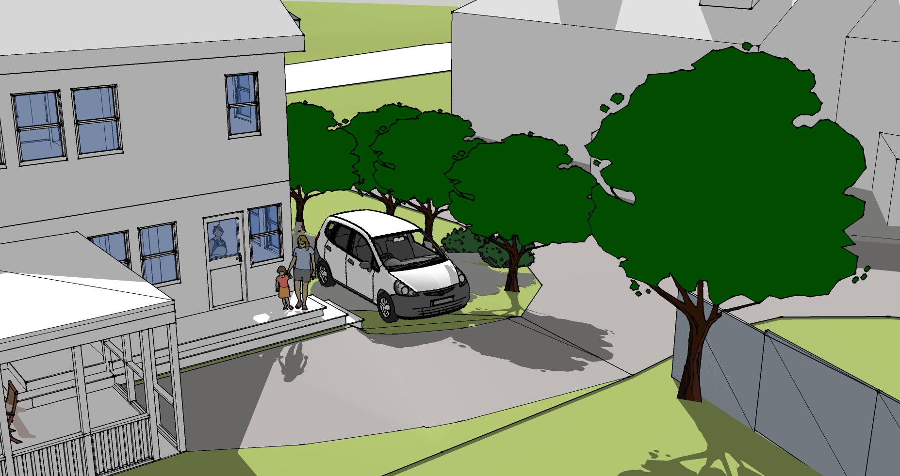 Design idea for parking a car out of sight